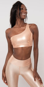 Heroine Sport Cold Shoulder Bra Copper
