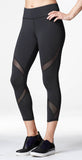 Michi Hydra Crop Legging Black