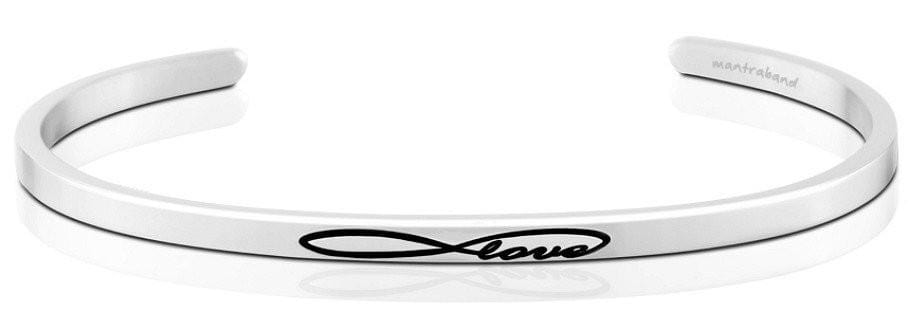 Infinite Love Mantraband Silver
