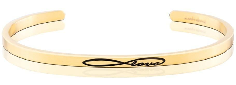Infinite Love Mantraband Gold