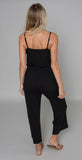 N Philanthropy Selvedge Jumpsuit Black Cat