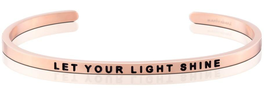 Let Your Light Shine Mantraband Rose Gold