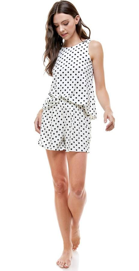 Miley & Molly Polka Dots Lounge Wear Set Pajama Set Polka Dots