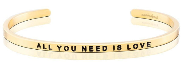 MantraBand All You Need Is Love Yellow Gold