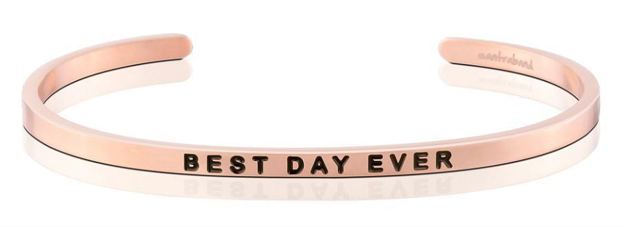MantraBand Best Day Ever Rose Gold