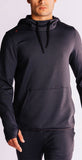 Rhone Nylon Tactel Hoodie Black Heather
