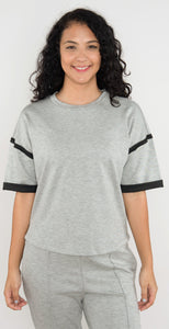 Vimmia Nexus Reversed Seam Pullover Light Heather Gray