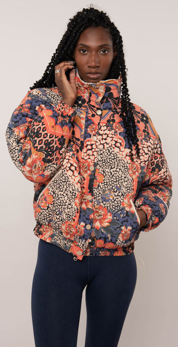 Free People Power House Puffer Midnight Combo