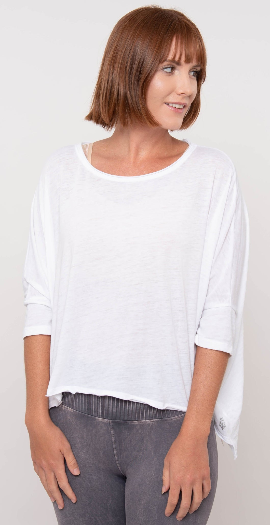 Free People Movement Burn Baby Burn Tee White