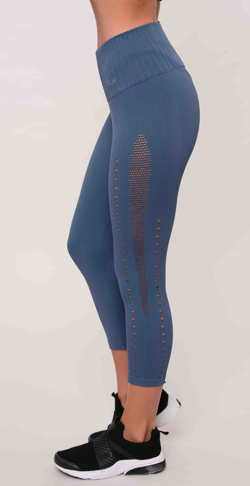 Nux Mesh Up Crop Legging Astral Aura