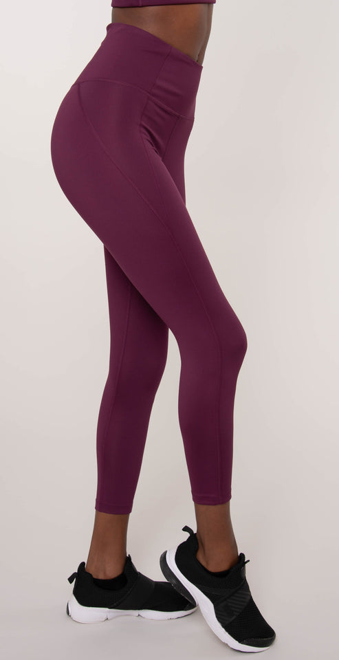 Girlfriend Collective High Rise Compressive Legging Plum