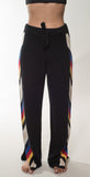 Threads of Privilege Cashmere Racing Stripe Jogger Black Combo