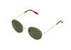 Quay Sunglasses Mod Star Gold Green Lens