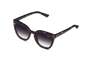 Quay Sunglasses Noosa Purple Tort Black fade lens