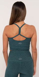 Beyond Yoga Space Dye Slim Racerback Cropped Tank Deep Ocean