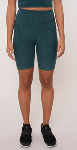Beyond Yoga High Waisted Biker Short Deep Ocean