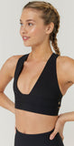 Spiritual Gangster Good Vibes Sports Bra Black