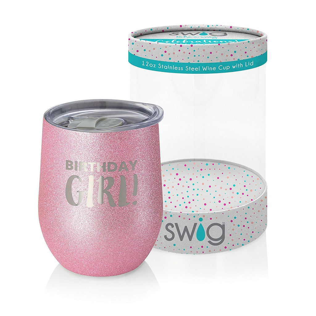 Swig Celebrations Stemless Wine Cup Birthday Girl