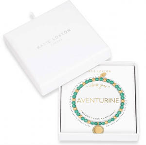 Katie Loxton Wellness Gem Bracelet Adventurine