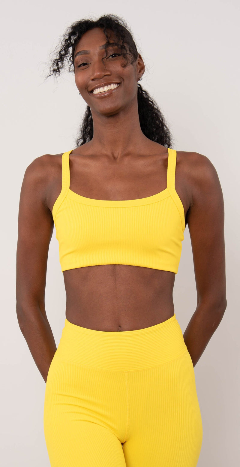 Year of Ours Ribbed Bralette 2.0 Yellow