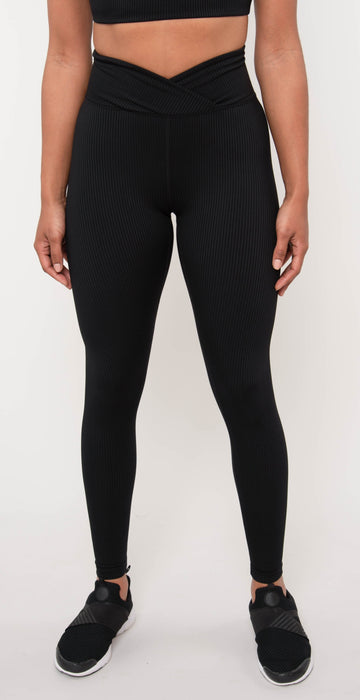 Year of Ours Ribbed Veronica Legging Black