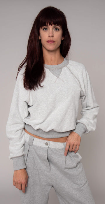 Twenty Montr̩al Sunnyside Reversible Sweatshirt Heather Gray