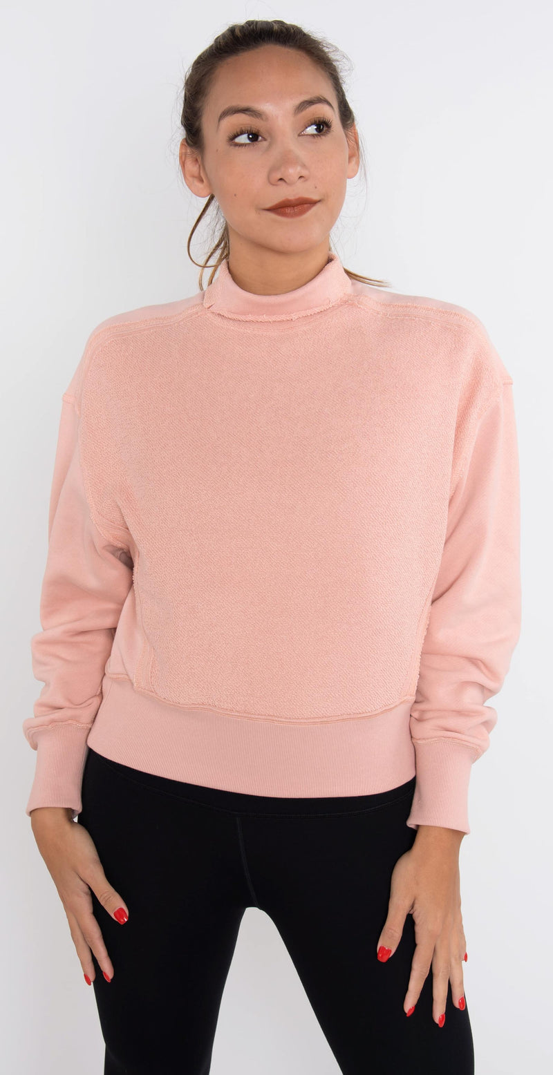 Twenty Montréal Sunnyside Mock Neck Top Rose Gold