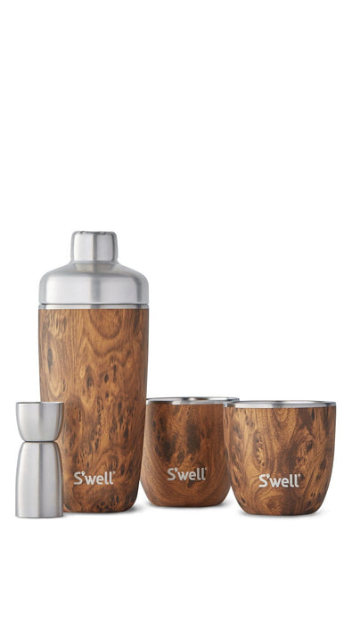 S'Well Cocktail Kit - Teakwood