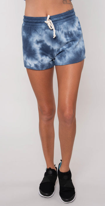 Alternative Cozy Terry Tie-Dyed Shorts Heritage Royal Tie Dye