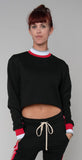 Twenty Montr̩al Pride Terry Cropped Top Jet Black Red