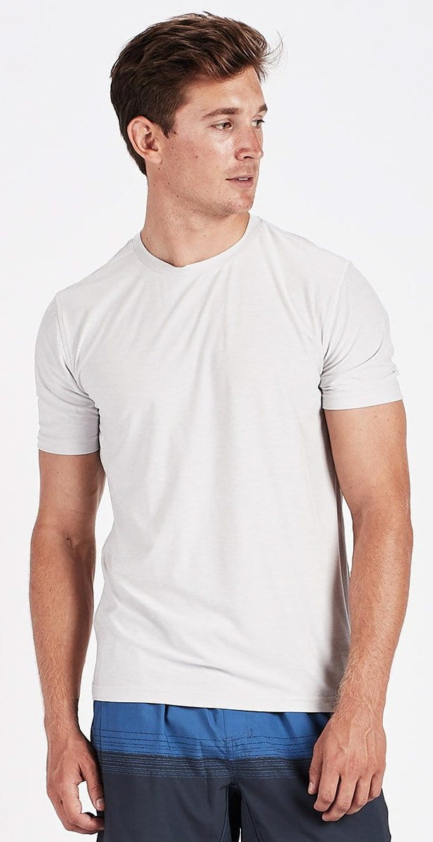 Vuori Strato Tech Tee Salt Heather Gray