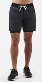 Vuori Stockton Short Black Linen Texture