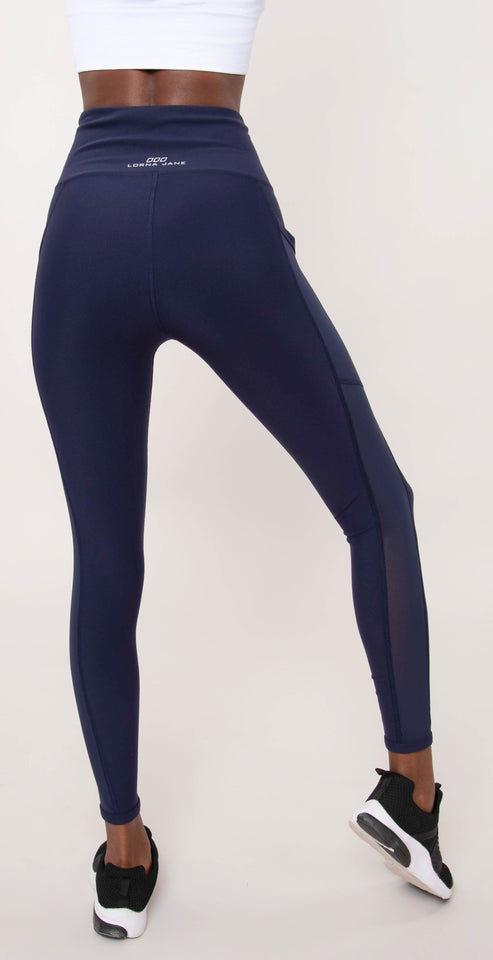Lorna Jane Core High Waist Full Length Tight French Navy