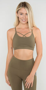 Lorna Jane Gym Sports Bra Safari