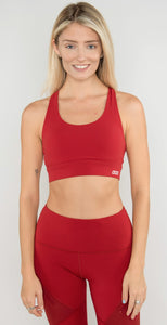 Lorna Jane Flex Sports Bra Dark Red