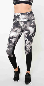 Skechers Ink Floral High Waist Legging Black Multi