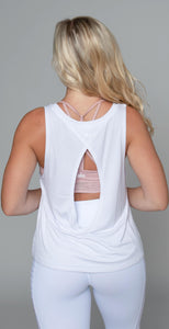 Alo Yoga Central Tank White