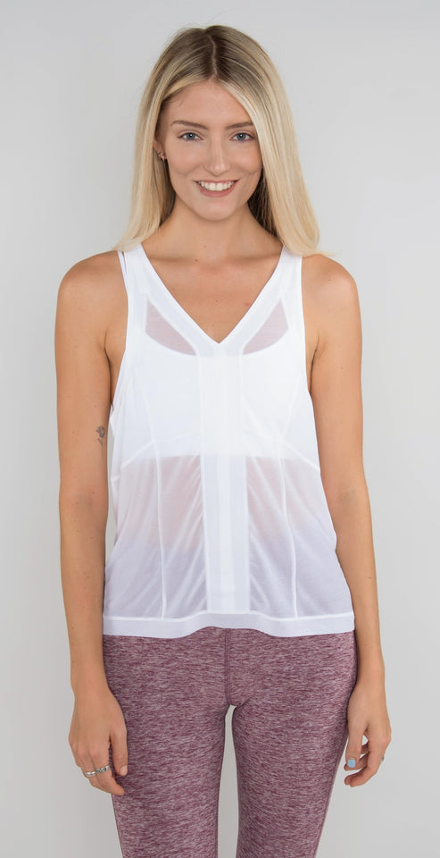 Alo Yoga Shape Tank White
