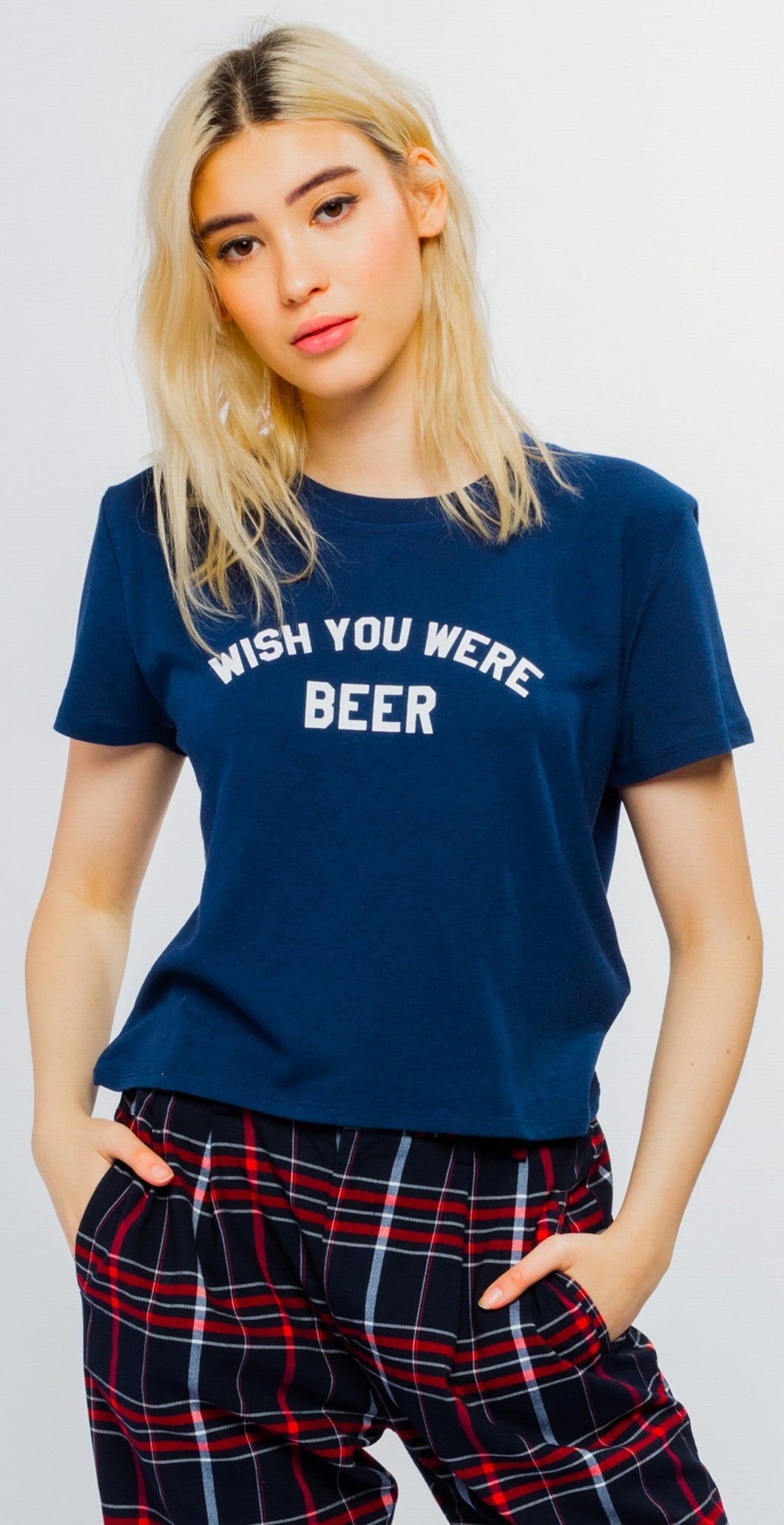 Sub Urban Riot Wish You Were Beer Dylan Tee Navy