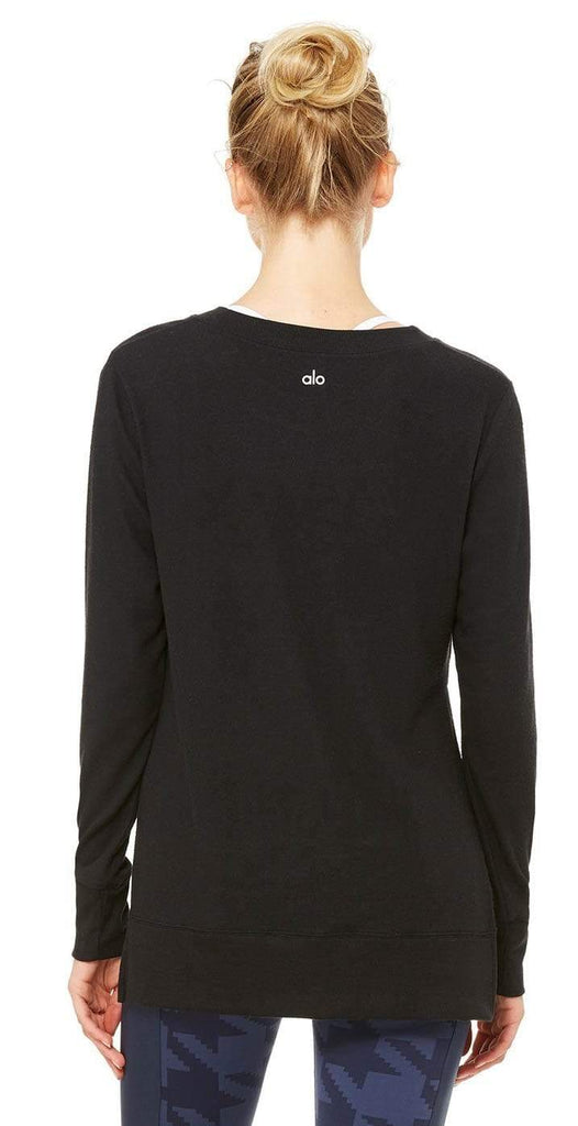 Alo Yoga Glimpse Long Sleeve black