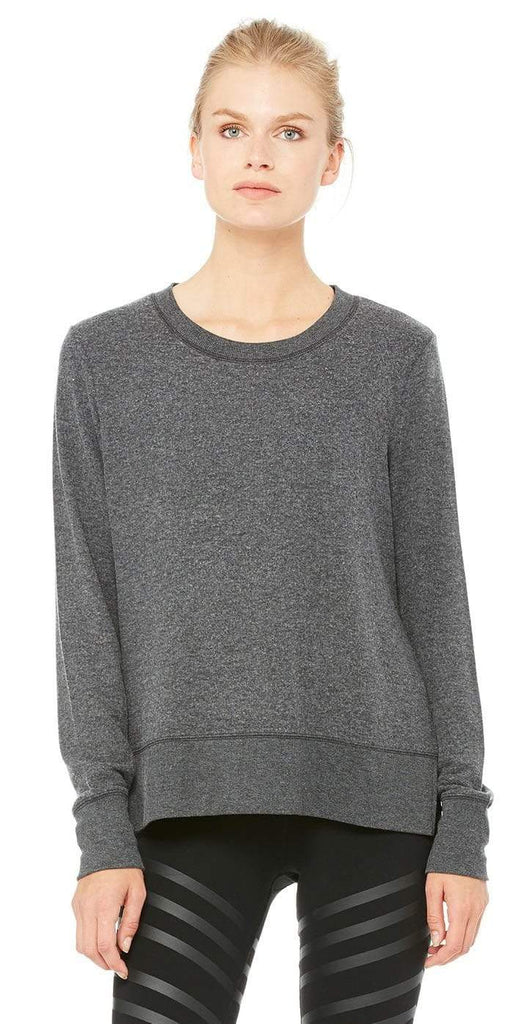 Alo Yoga Glimpse Long Sleeve Charcoal Heather