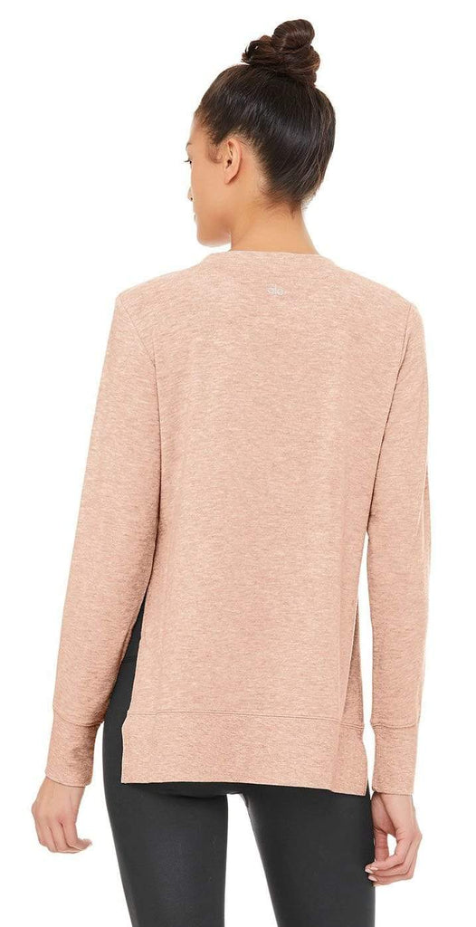 Alo Yoga Glimpse Long Sleeve Necter Heather