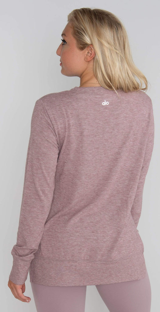 Alo Yoga Glimpse Long Sleeve Dusted Plum Heather