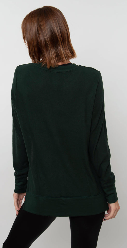 Alo Yoga Glimpse Long Sleeve Forest Heather