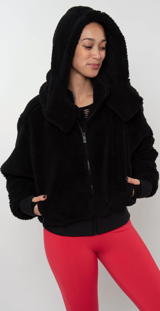 Alo Yoga Foxy Sherpa Jacket Black