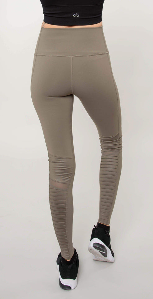 Alo Yoga High Waist Moto Leggings Olive Branch