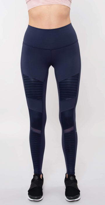 Alo Yoga High-Waist Moto Legging Rich Navy Glossy/Rich Navy Glossy