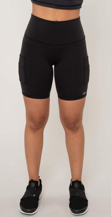 Alo Yoga High Waist Cargo Short Black