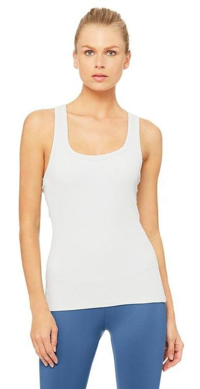 Alo Yoga Rib Support Tank dove grey