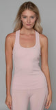 Alo Yoga Rib Support Tank Pale Mauve